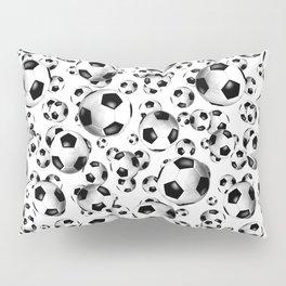 3D look soccer balls pattern Pillow Sham