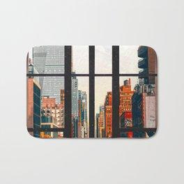New York City Window #2-Surreal View Collage Bath Mat