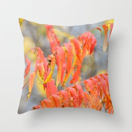 Fall reds and oranges Throw Pillow