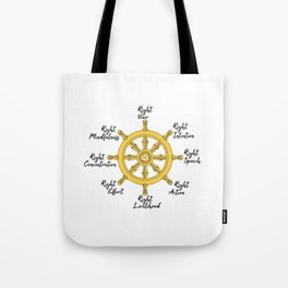 The Noble Eightfold path Tote Bag