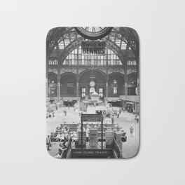 Penn Station 370 Seventh Avenue Train Station Concourse New York black and white photography - photo Bath Mat
