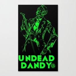 undead dandy Canvas Print