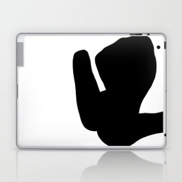 Nude silhouette figure - Nude black 001 Laptop & iPad Skin