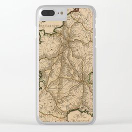 Map Of France 1632 Clear iPhone Case