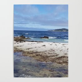 Carmel Beach High Tide Poster