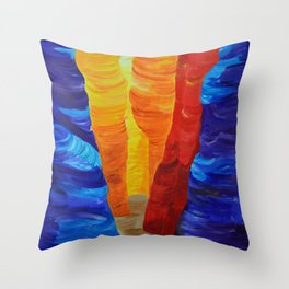 Slot Canyon no Text Throw Pillow