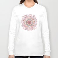 alice Long Sleeve T-shirts featuring Sunflower Mandala by Janet Broxon
