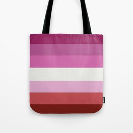 Lesbian pride flag Tote Bag