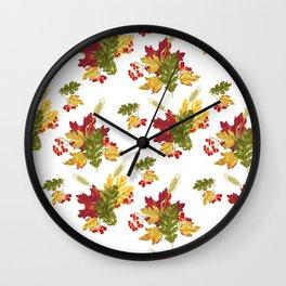 Harvest Season Pattern Wall Clock