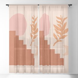 Abstraction_SUN_NATURE_Architecture_Minimalism_001 Sheer Curtain