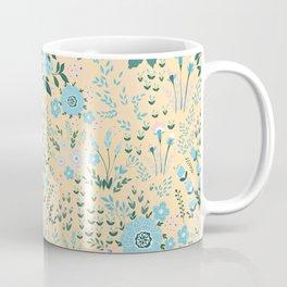 Star Sapphire Floral Celebration Aqua Coffee Mug