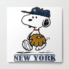 snoopy new york Metal Print