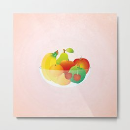 Bowl of Fruit (square) Metal Print