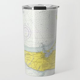 Vintage Map of Nantucket (1975) Travel Mug