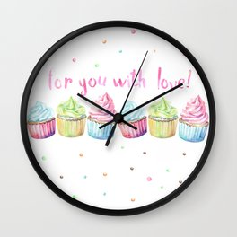 For You with Love Wall Clock