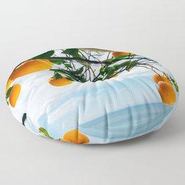 Amalfi Coast Oranges IV Floor Pillow