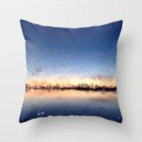 skyline Throw Pillows featuring Skyline by kelly*n photography