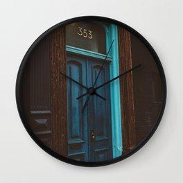 Brooklyn Door Wall Clock