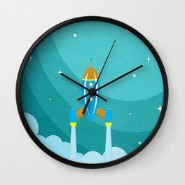Blue sky Wall Clock