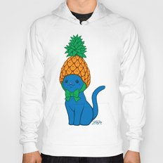 Blue Cat Wears Pineapple Hat Hoody