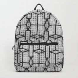 Diamonds and Rectangle window grille design Backpack