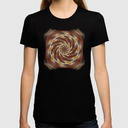 Blue Wood Kaleido Pattern T-shirt