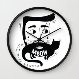 Men With Beards Wall Clock