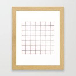 Simply Grid in Rose Gold Sunset Framed Art Print