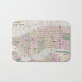 Vintage Map of New York City (1873) Bath Mat
