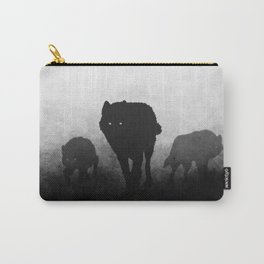 Black and White Wolfpack Carry-All Pouch