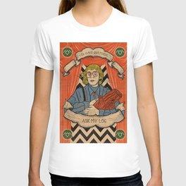 Ask my log T-shirt