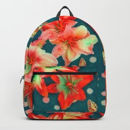 Amaryllis and Butterflies 2 Backpack