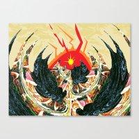 dragon Canvas Prints featuring  Dragon  by Shane R. Murphy