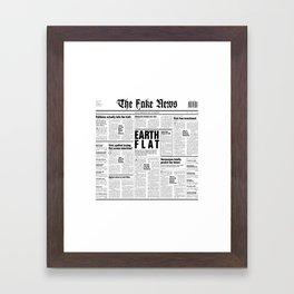 The Fake News Vol. 1, No. 1 Framed Art Print