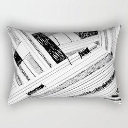 Black and White  Pen, Pencil and Black Ink Art Print Rectangular Pillow