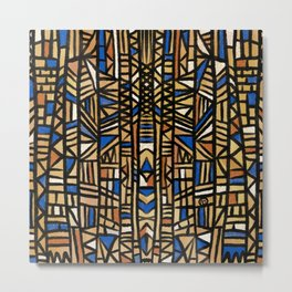 African Mudcloth inspired cloth design Metal Print