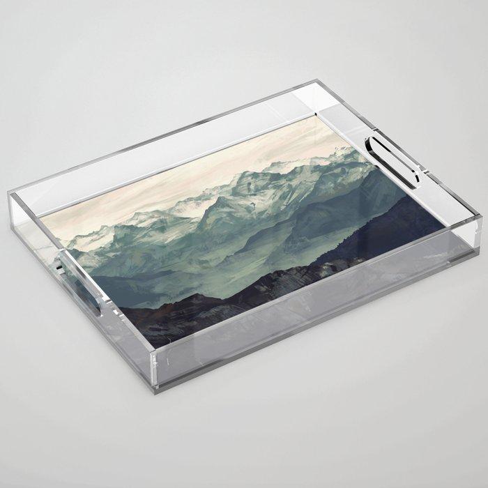 Mountain Fog Acrylic Tray