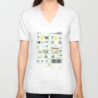 knit V-neck T-shirts featuring A Knit Hope by Fabian Gonzalez