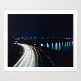 Ohio Drive and the Memorial Bridge Art Print