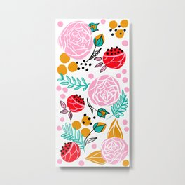 Bright florals Metal Print