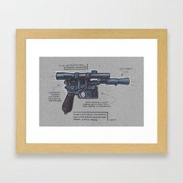 Han Solo's Blaster Framed Art Print