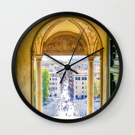Streets of Echoes:  Rome, Italy Wall Clock