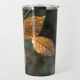 Leaves in Light Travel Mug