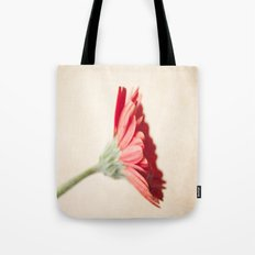 Textured Red Gerbera  Tote Bag
