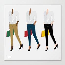 White Shirt Canvas Print