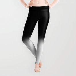 Black and White Split Fade Inverse Leggings