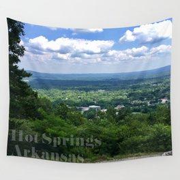 Scenic overlook of Hot Springs Arkansas Wall Tapestry