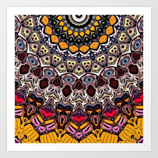 Colorful Balance of Shapes Art Print