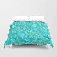 tapestry Duvet Covers featuring Tapestry  by FYLLAYTA, surface design,Tina Olsson