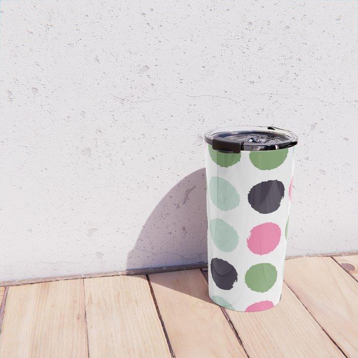 Painted dots minimal colorful pattern polka dots nursery baby decor Travel Mug